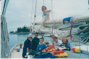 The crew of the Alamar in Maine in 2001