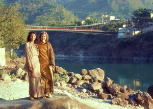 Anna and Linnea, Rishikesh 1980