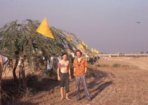 Larry (left) and Craig on the lawn at NOIDA 1980