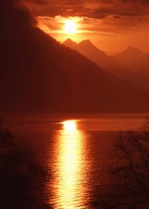 A great place to meditate--Lake Lucerne 1978