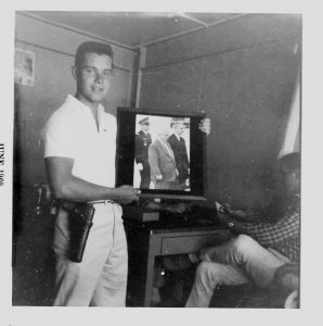 Iconoclast or Idiot ? Larry's photo of Nikita Kruschev posted in his barracks Cold War, 1960