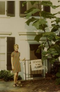 "Linnea with ""carnivorous fig tree"" Georgetown 1967"